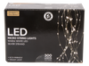 """Designers Excellence 300 Micro LED 39"""" Silver Wire Light Cascade"""