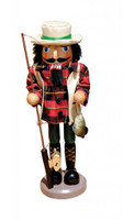 Santa's Workshop Bass Fisherman Nutcracker 13.5""