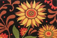 "Jellybean Prairie Sunflower Rug 21"" x 33"""