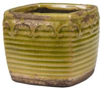 Swan Creek Vintage Green Square Pot Pumpkin Vanilla