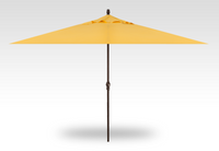 Treasure Garden 8' X 11'Rectangular No-Tilt Crank Lift Umbrella in Sunbrella Buttercup - Bronze finish
