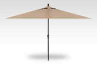 Treasure Garden 8' X 11'Rectangular No-Tilt Crank Lift Umbrella in Sunbrella Heather Beige-Black finish