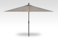 Treasure Garden 8' X 11'Rectangular No-Tilt Crank Lift Umbrella in Sunbrella Ash-Black finish