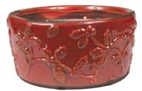 Swan Creek Holiday Pottery Bowl-Cherry Almond