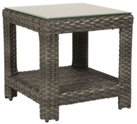 Erwin and Sons Oconee Outdoor End Table w/ Glass Top