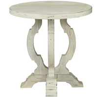 "Coast To Coast 24"" Accent Table Orchard White"