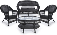 Erwin & Sons Antigua 4pc Seating Set 1 Ebony