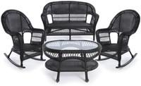 Erwin & Sons Antigua 4pc Seating Set 2 Ebony