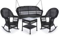 Erwin & Sons Antigua 4pc Swing Seating Set 3 Ebony