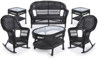 Erwin & Sons Antigua 6pc Seating Set 5 Ebony