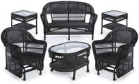 Erwin & Sons Antigua 6pc Seating Set 7 Ebony