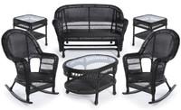 Erwin & Sons Antigua 6pc Seating Set 9 Ebony