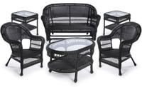 Erwin & Sons Antigua 6pc Seating Set 10 Ebony