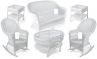 Erwin & Sons Antigua 6pc Seating Set 5 White