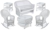 Erwin & Sons Antigua 6pc Seating Set 9 White