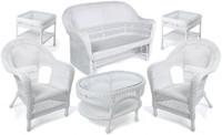Erwin & Sons Antigua 6pc Seating Set 10 White