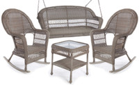 Erwin & Sons Antigua 4pc Swing Seating Set 3 Fieldstone