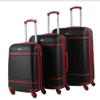 Prima USA Travel Two Tone Black/Red Luggage Set 3