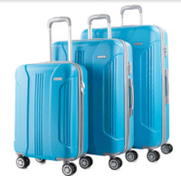 Prima USA Travel Turquoise Luggage Set 3