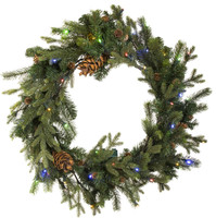 ForeverTree Grand Majestic Wreath Color Changing LED Battery Operated
