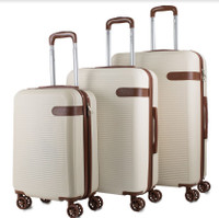 Prima USA Travel Beige Brown Luggage Set 3