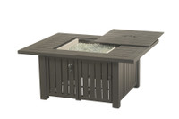 """Hanamint Sherwood Outdoor 44"""" x 56"""" Rectangular Enclosed Gas Fire Pit Table"""