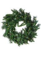 "30"" Princess Pine Prelit Wreath - Battery Operated"