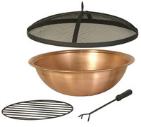 "22"" Copper Fire Pit Bowl & Accessories Kit"