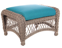 Erwin and Sons St. John Outdoor Ottoman in Driftwood Finish w/ Cushion (Ships in 4-6 weeks)