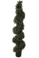 """56"""" Deluxe Boxwood Spiral Topiary"""