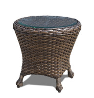 Erwin Bel Air Outdoor End Table w/Glass Top