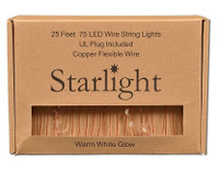 Starlight LED String Lights - 25' Copper Wire