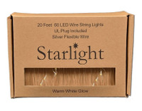 Starlight LED String Lights - Silver 20' Wire