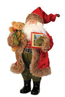"15"" Bear and Book Santa"