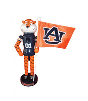 "12"" Auburn Mascot and Flag"