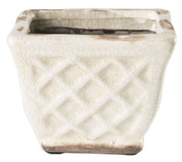 French Farmhouse Square Pot Candle in Ivory - Bourbon Maple Sugar