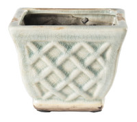 French Farmhouse Square Pot Candle in Slate - Cinnamon Hazelnut Latte