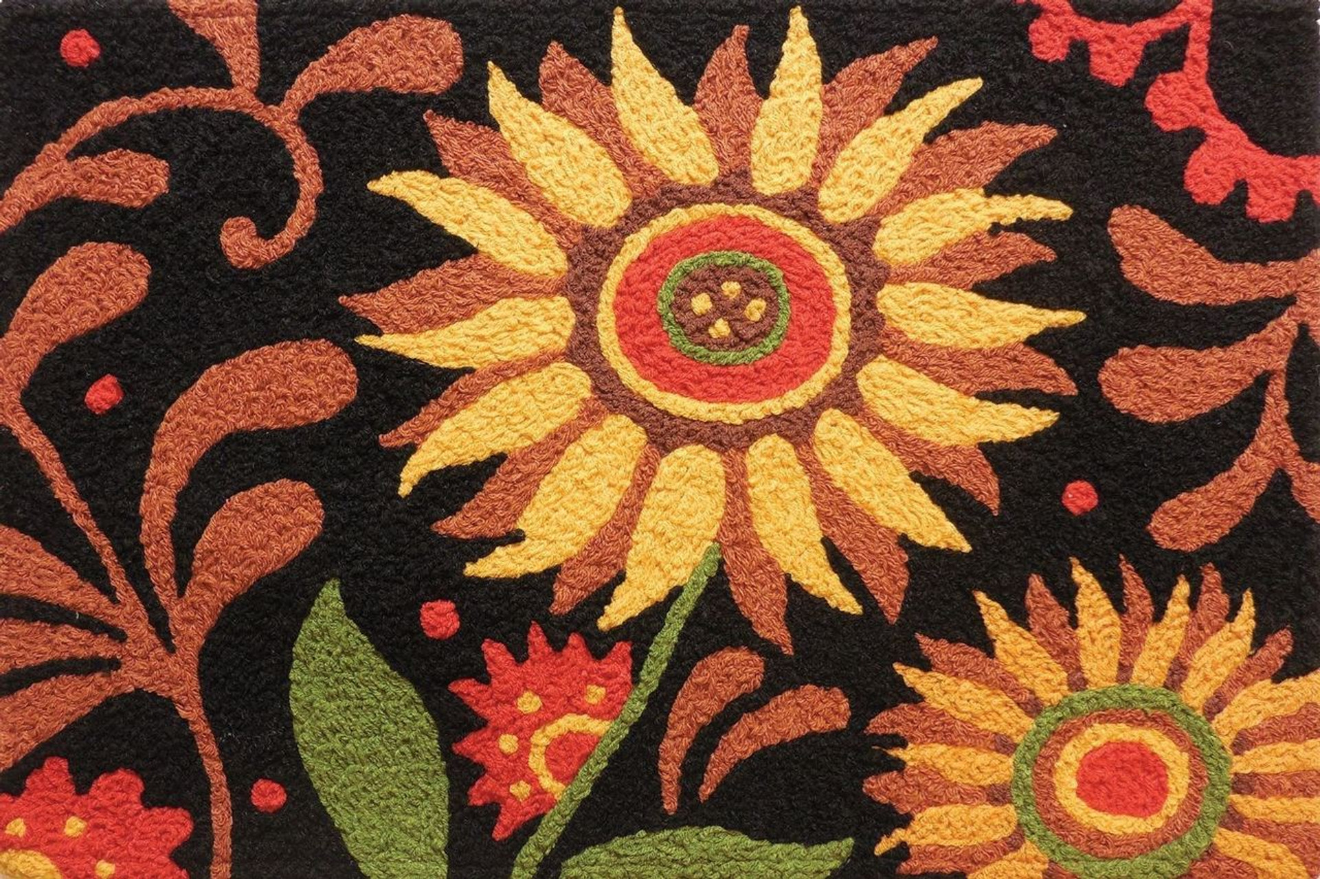 Jellybean Prairie Sunflower Rug 21 X 33
