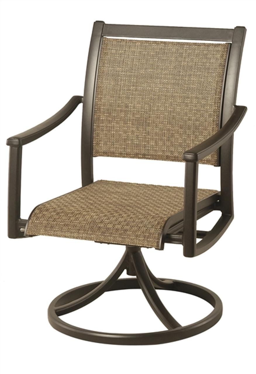 Hanamint Cast Aluminum Patio Furniture Reviews: Hanamint Stratford Outdoor Sling Swivel Rocker