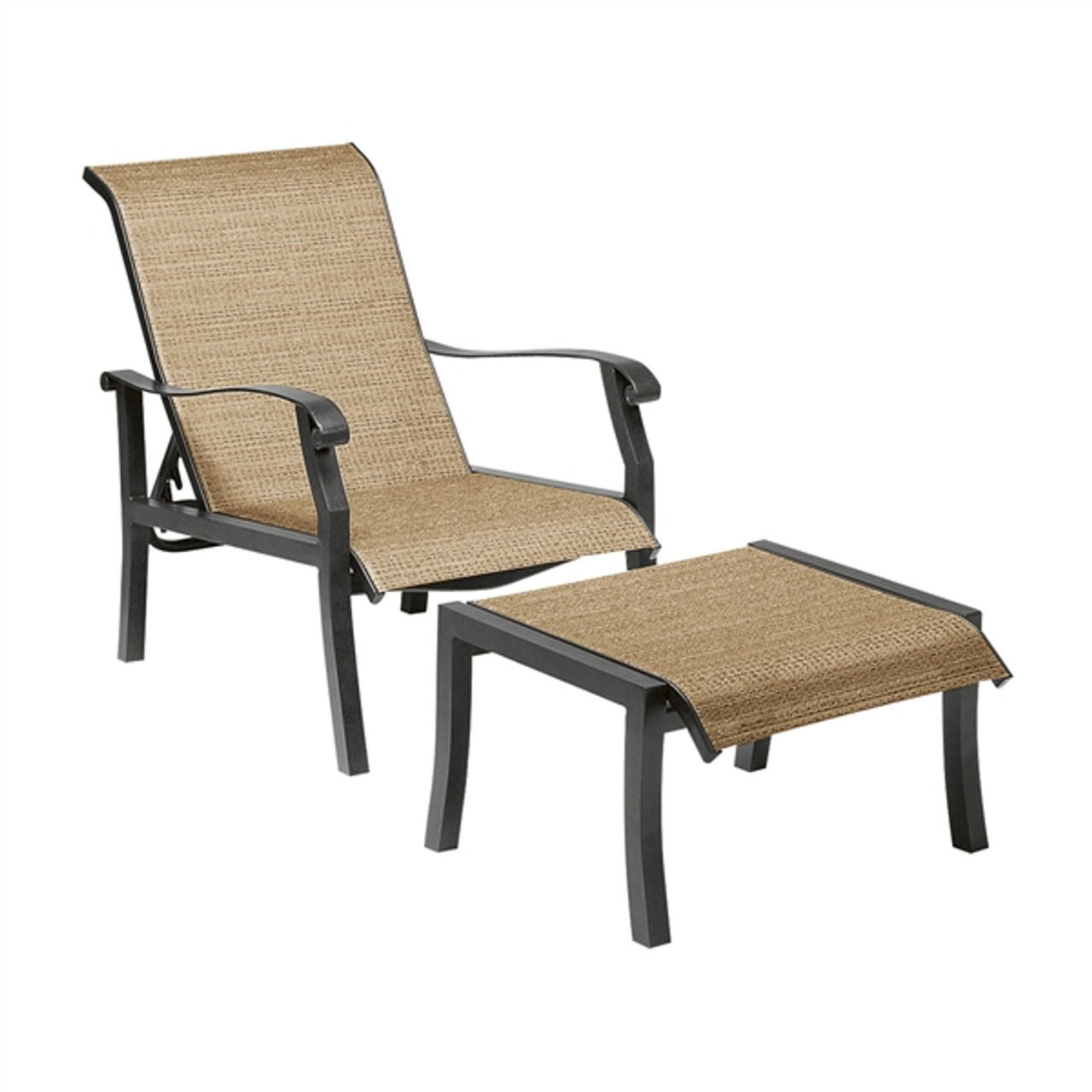 woodard cortland outdoor sling adjustable lounge chair