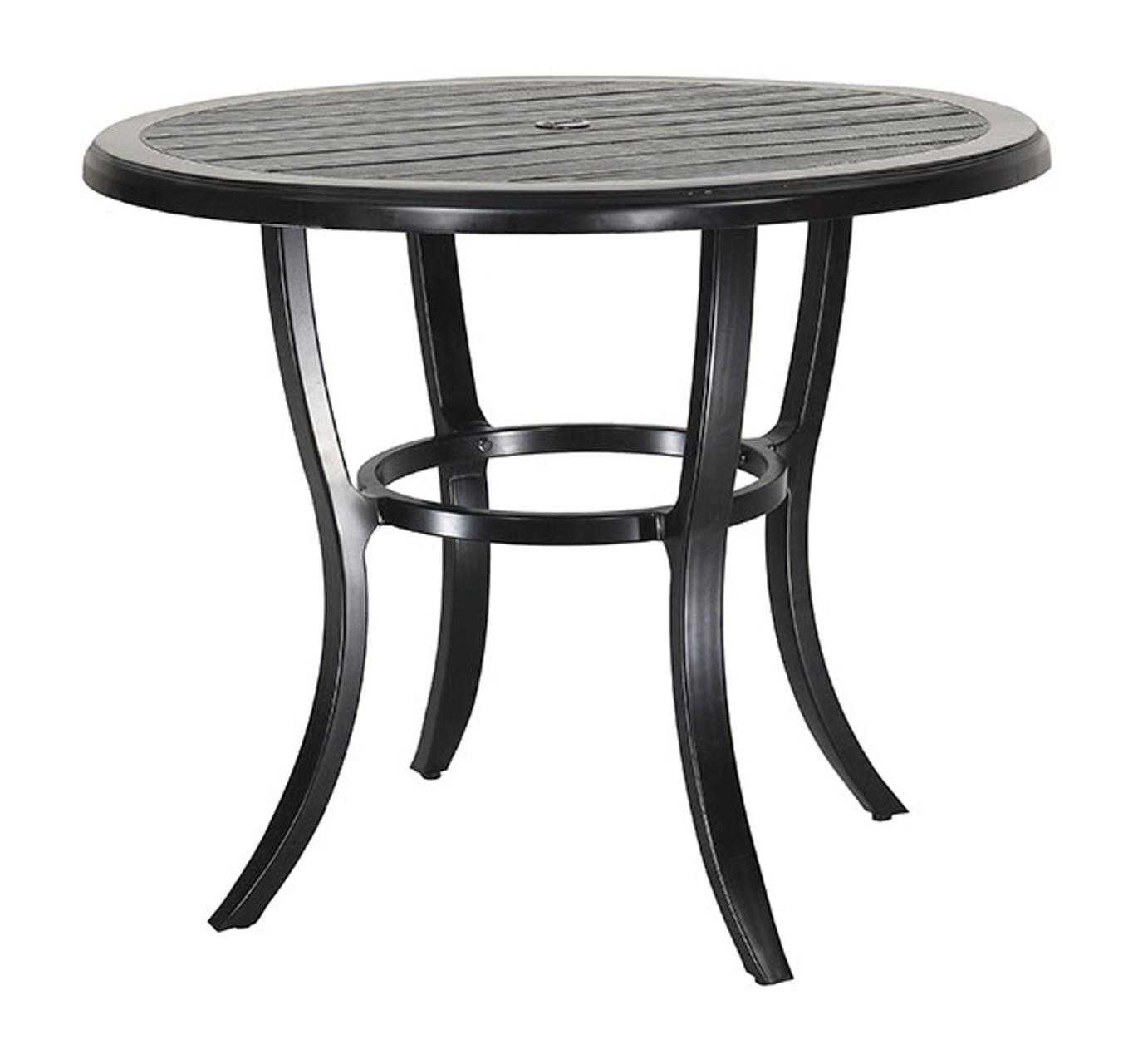 Gensun Lattice Outdoor Round Balcony Table - Round lattice coffee table