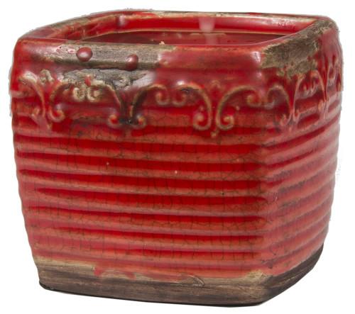 Swan Creek Red Square Pot Warm Cinnamon Buns