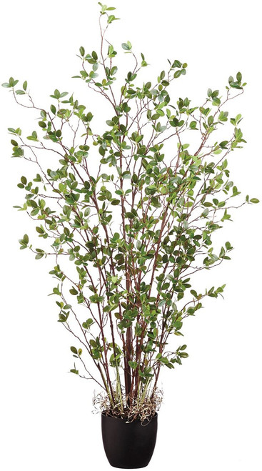 """60"""" Mini Leaf Plant in Pot Green"""