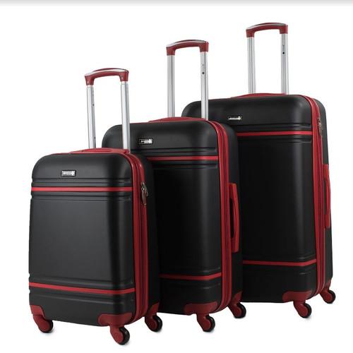 Prima USA Travel Two Tone Black/Red Luggage Set 3