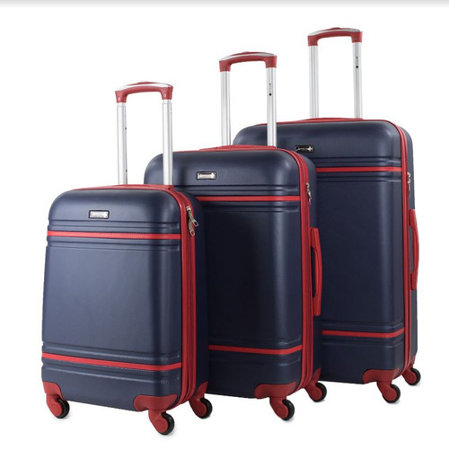 Prima USA Travel Two Tone Navy Red Luggage Set 3