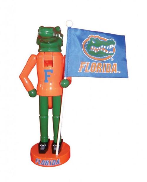 "12"" Santa's Workshop Florida Mascot and Flag"