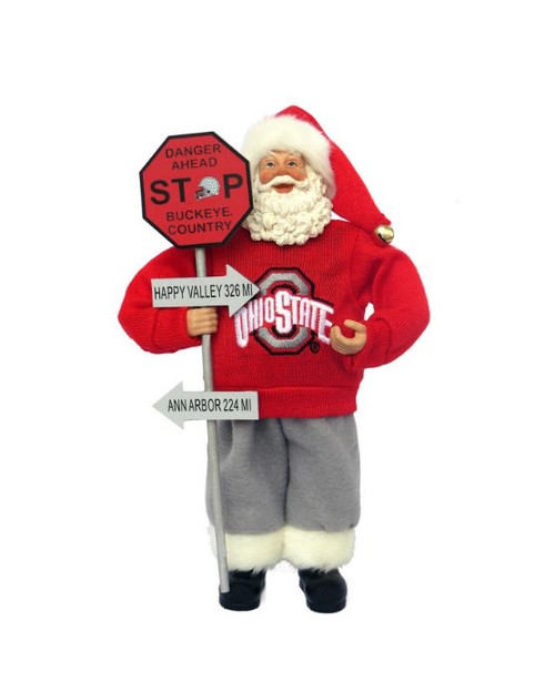 "12"" Ohio State Country Santa"