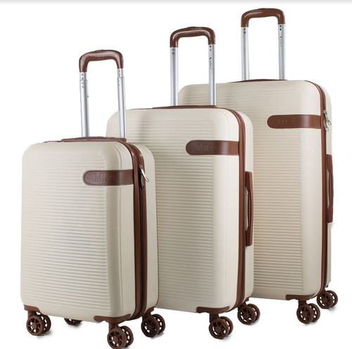 Prima USA Travel Beige Brown Luggage Set 3