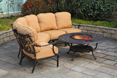 Hanamint Tuscany Outdoor 48 Quot Round Fire Pit Table With