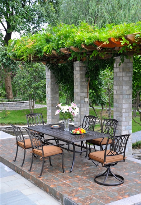 round tuscany homes furniture throughout patiosusa hanamint cast aluminum excellent patio